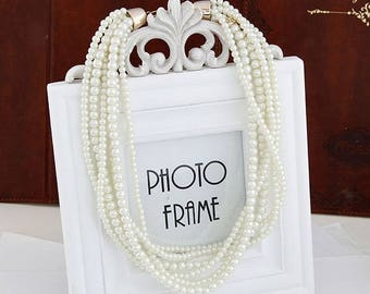 Multi Layer and Size Faux Pearl Fashionable Necklace