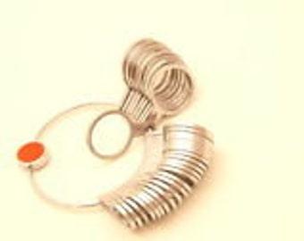 Gauge chart etsy metal finger gauge ring sizer 1 15 uk european france german conversion chart greentooth Images