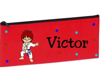 Red Judoka personalized with name package