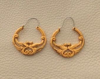 Vintage Avon Lovebird Earrings