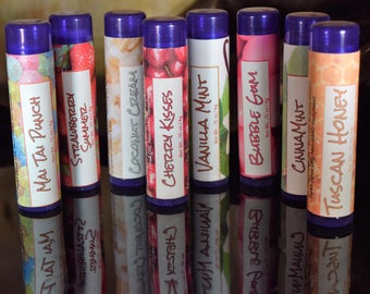 Flavored Lip Balm - Simple blend of really good, nourishing oils and beeswax!