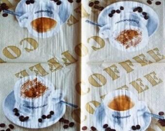 Espresso Coffee, Cappuccino #AL005 paper TOWEL