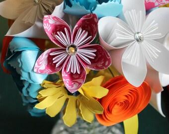 Paper Flower Bouquet - Mixed flowers,