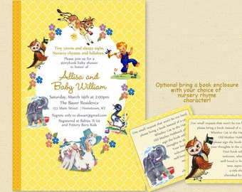 Baby Shower Nursery Rhyme Storybook Invitation, Book Baby Shower Invite, Boy or Girl, Printable Invitation