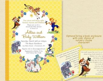 Baby Shower Nursery Rhyme Storybook Invitation, Book Baby Shower Invite, Boy or Girl, Printable Invitation