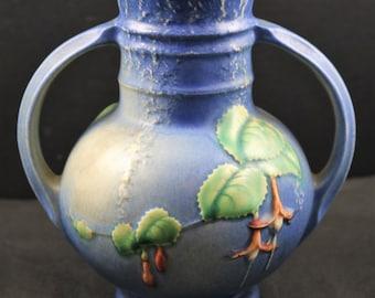 Roseville, Fuschia, Blue Vase No. 891-6  (as is)