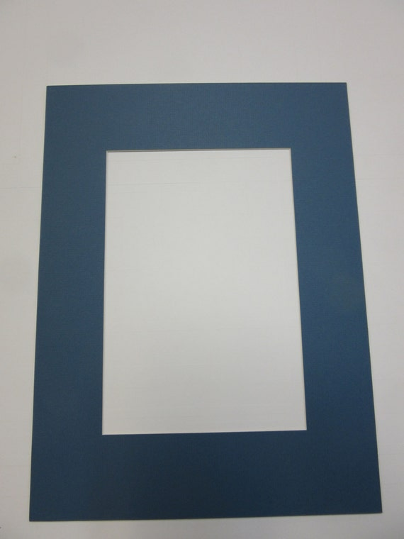 Picture Framing Mat Antique Blue 12x16 For Custom Size Opening