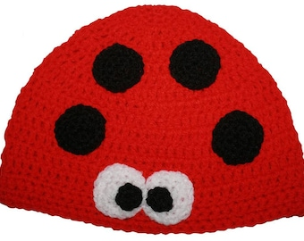 Hand Crocheted Ladybird Hat HH031