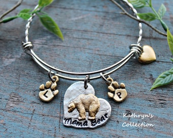 Mama Bear Bracelet, Momma Bear, New Mom Gift, Mama Bear Jewelry, Gift for Mom, Read Full Listing Details Before Ordering