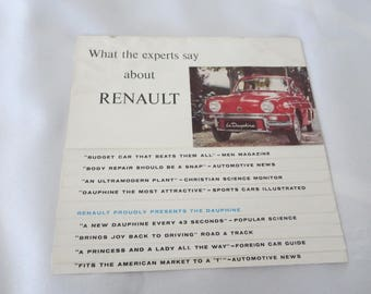 1959 ? Renault Dauphine Sales Brochure Catalog