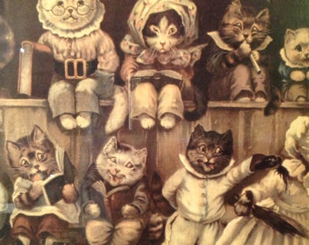 Funny print from the 60' , a cats school