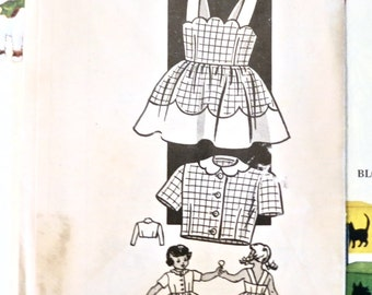 Vintage 1950s Girls Sundress and Jacket Pattern - Marian Martin 9446