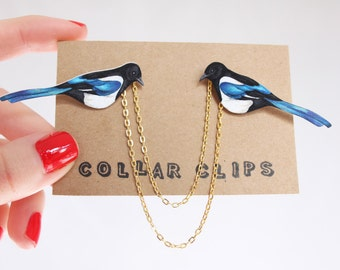 Collar Clips: Magpies