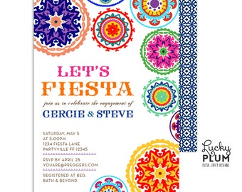Fiesta Engagement Invitation / Fiesta Invitation / Fiesta Birthday Invitation / Fiesta Baby Shower Invitation / Mexican Invitation