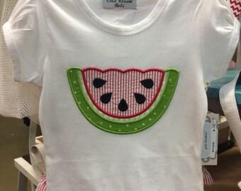 Watermelon Appliqué Shirt!!