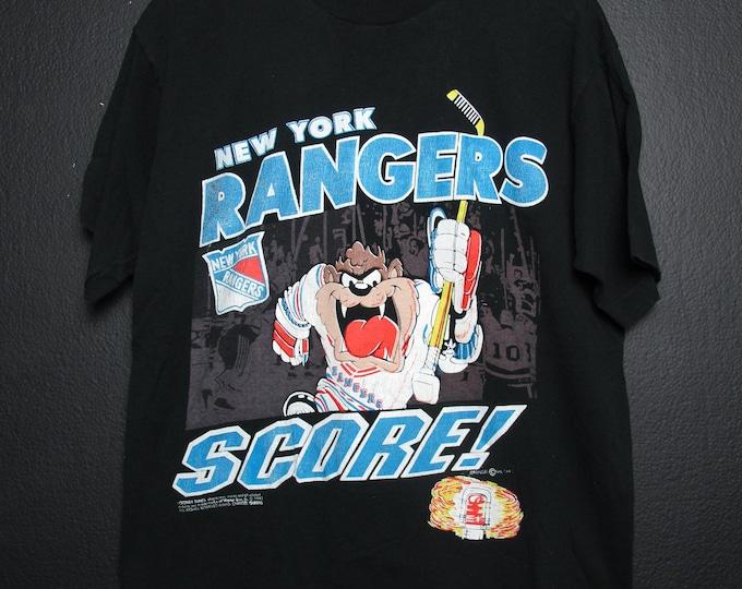 New York Rangers Taz NHL 1992 vintage Tshirt