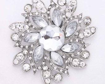 Large Rhinestone Brooch, Bouquet Jewelry, Wedding Brooch, Bridal Brooch, Bouquet Brooches, Bridesmaid Brooch, Cake Brooch Decor