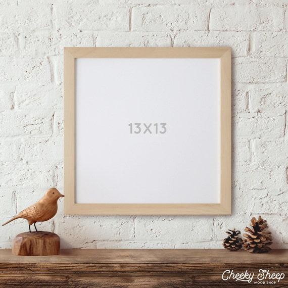 13x13, Wood Frame, Picture Frame, Square Frame, Scrapbook frame, Art ...