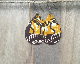 African fabric earrings, Ethnic jewelry, African jewelry, Fabric earrings, Textile earrings