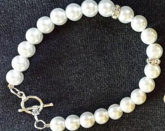Sale! Faux Glass Pearl bracelet
