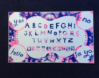 Risographed Ouija Board Print
