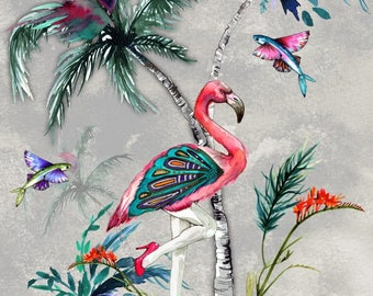 ChiMiracle sexy Flamingo and Butterfly print CHOICE OF COLOURS