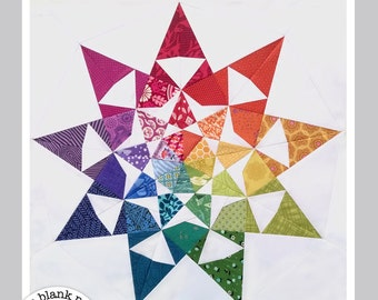 Star Quilt Pattern - Dusk #230 - Paper Piecing Pattern - PDF 18 in & 24 in