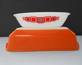 "Vintage Agee Crown Pyrex ""Moderne""  850ml Oval Pie Dish 1975  #10100"