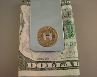 Vintage Authentic Hamilton Ohio Transit Token Money Clip Man Gift, Wedding, Groomsman Gift, Fathers Day Gift