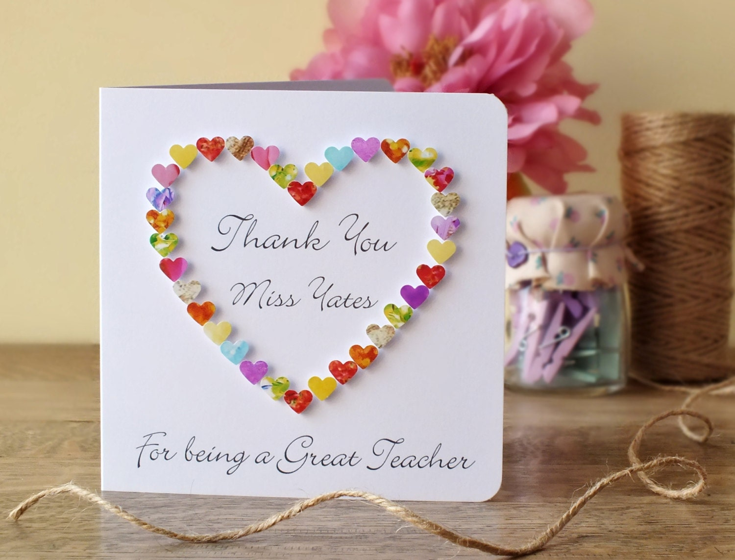 Thank you teacher card thank you for being a great zoom kristyandbryce Image collections