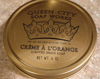 Crème à l'orange (Creamsicle) Premium Shave Soap