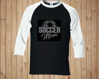 Soccer Mom Shirt, Mom, Soccer, Sparkly Soccer Shirt, Soccer Mom, Mom Gift