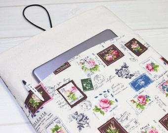 MacBook sleeve 12, floral, laptop sleeve, MacBook case, white, MacBook Air case, laptop case, MacBook 11 inch, MacBook Ari sleeve, gift