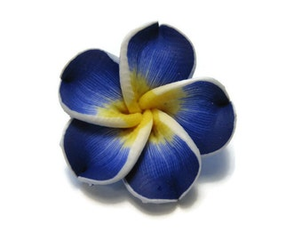 20 mm Polymer Clay Plumeria Flower Beads set of 4 (P28)