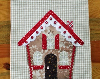 Christmas Kitchen Towel, Gingerbread House Towel, Christmas Tea Towel, Hostess Gift, Christmas Decor