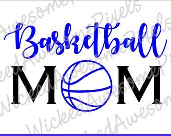 Basketball Mom svg, School Team svg, Basketball svg, Mom Cut File, School Sport svg, Team Mom svg, Iron On, Digital Download