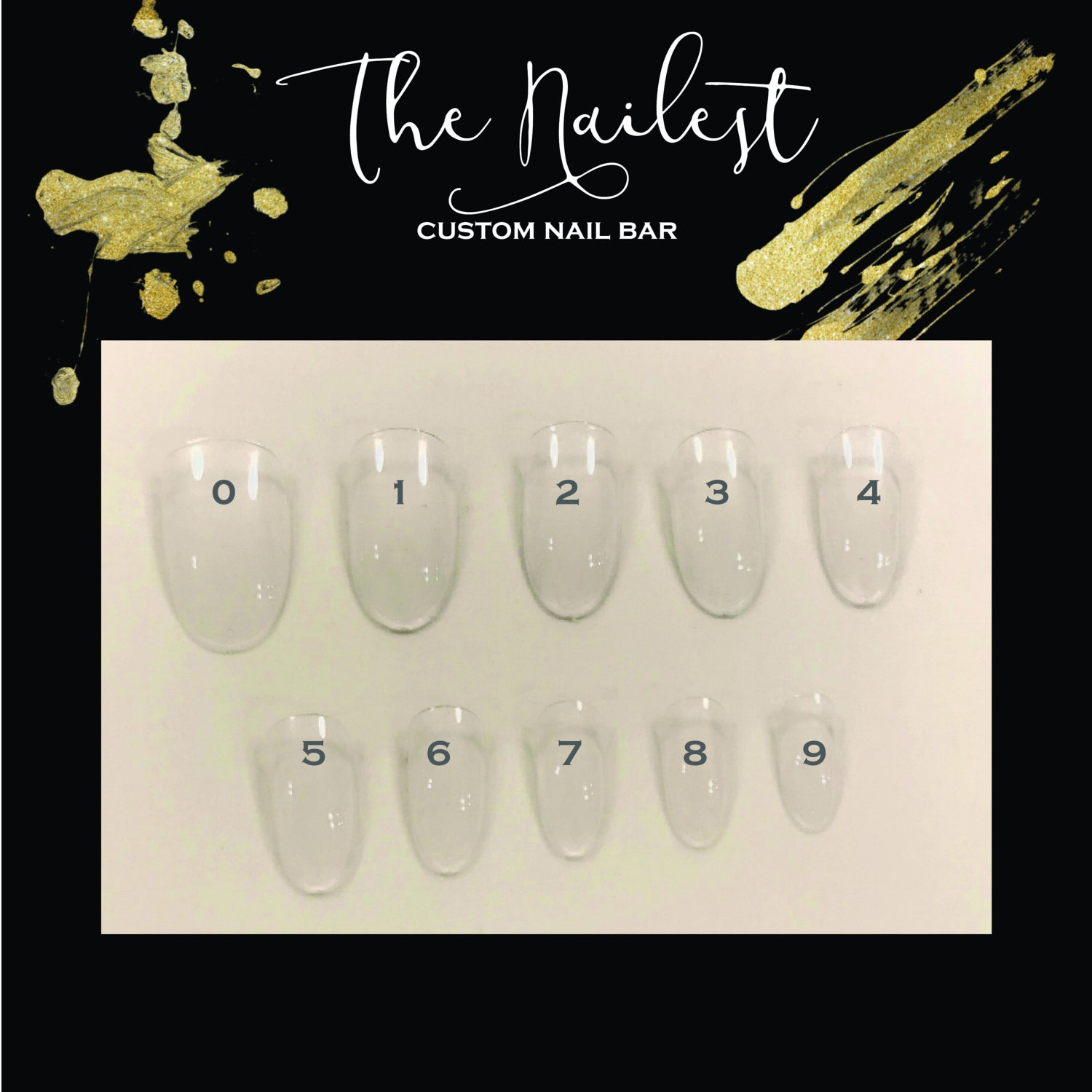 Press on Nails Sizing Sample Pack Size Guide Fake Nails