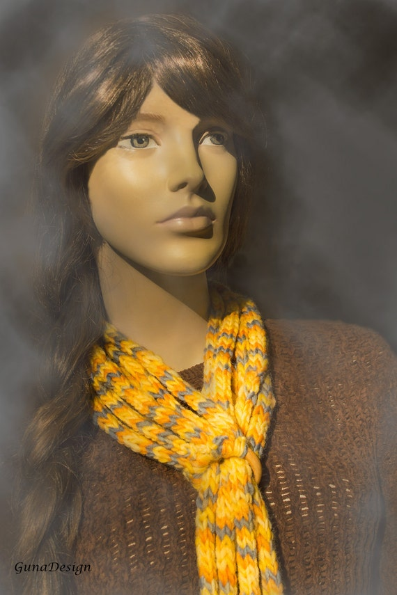 Crochet scarf, cowl, neck warmer, lariat, necklace, crochet head band for woman with leather tassels