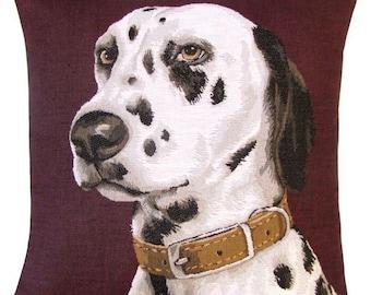 jacquard woven belgian tapestry pillow cushion dalmatian dog