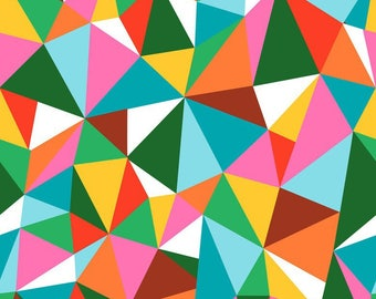 American children fabric Colorifix - Cotton Blend Fabrics designer Maude Asbury - Colorific - green Fracture - by 50cm