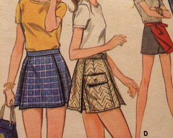Cute Culotte Pattern---Butterick 5676---Waist 25 1/2 Hip  36