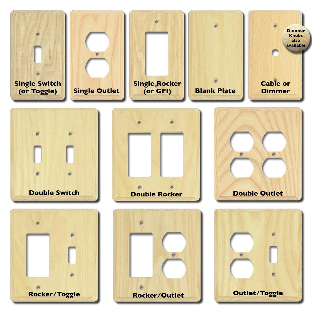 Custom Hand Painted Light Switch Plate Electrical Outlet