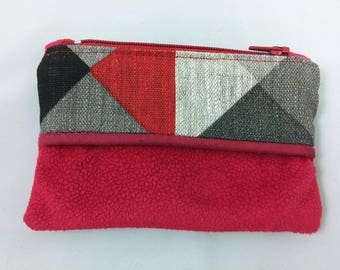 Purses in linen and Red suede