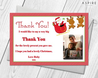 Personalised Christmas Thank You Cards | Festive Thank You Notes & Envelopes