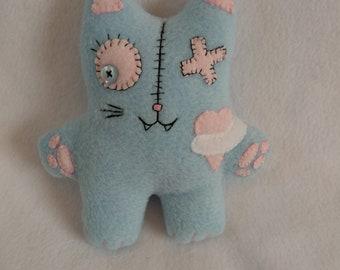 Custom Franken-Kitty -  Zombie Cat Plushie - Cat Plush - Stitched Up Cat - Zombie Animal - OOAK - Handmade Cat - Stuffed Toy - Zombie Pet