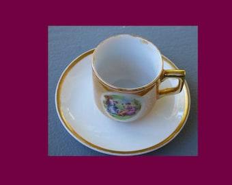 Noritake Goldena Nippon Demitasse Cup & Saucer-One
