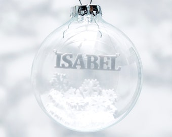 Snowflakes Personalised Christmas Bauble