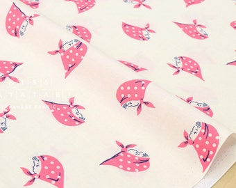 Japanese Fabric Kerchief Girls - pink - fat quarter