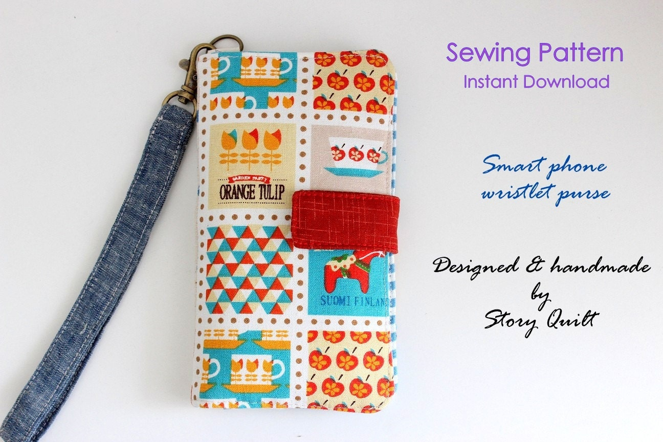 Easy pattern cell phone wallet pdf sewing pattern gadget easy pattern cell phone wallet pdf sewing pattern gadget pouch pattern mobile phone pouch pattern cell phone pouch jeuxipadfo Choice Image