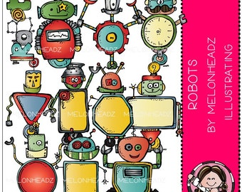 Robots clip art - COMBO PACK